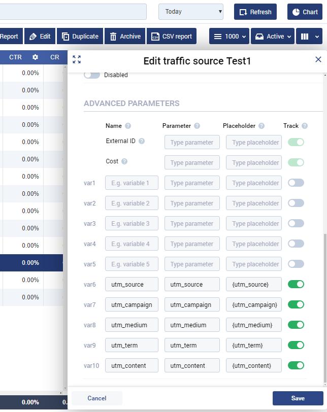 Google Analytics tracking in Voluum