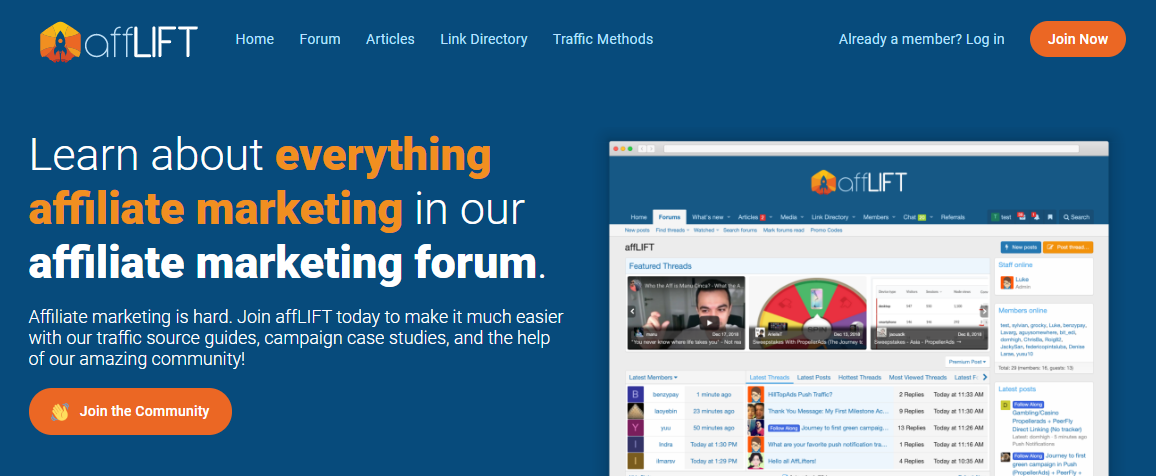 afflift - the importance of community in affiliate marketing