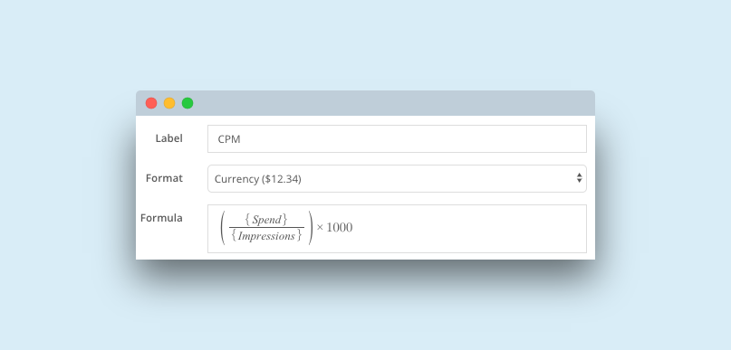 CPM calculated metric in Brax.io