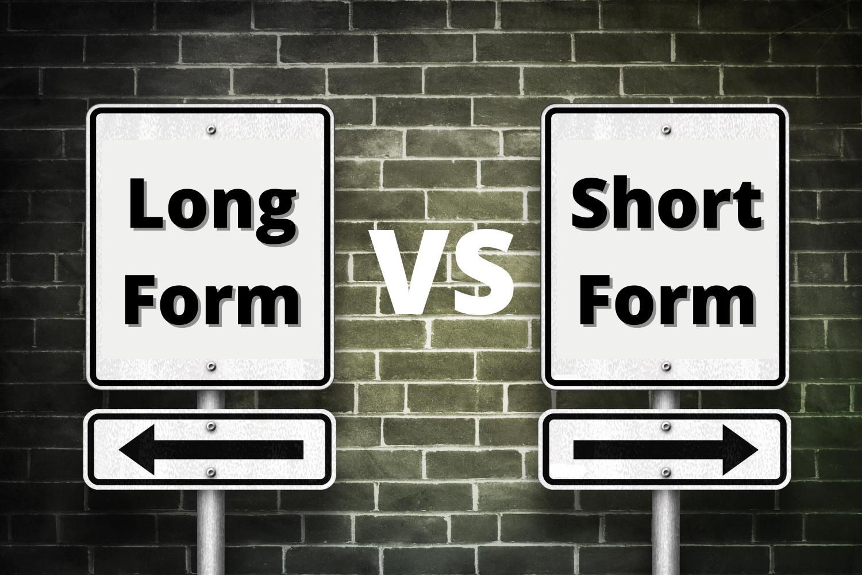 long form content vs short form content