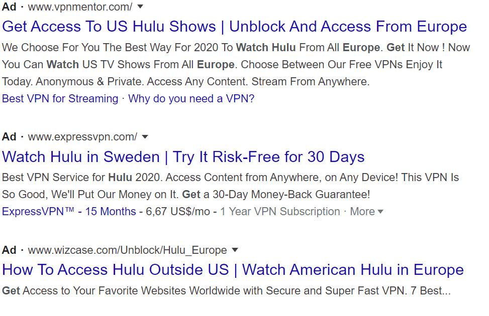 Ads VS Display Ads, native ads, native ads, sponsored search results
